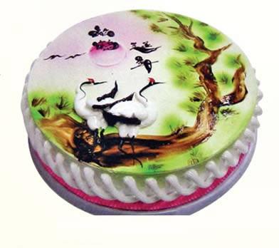 蛋糕松树图片大全